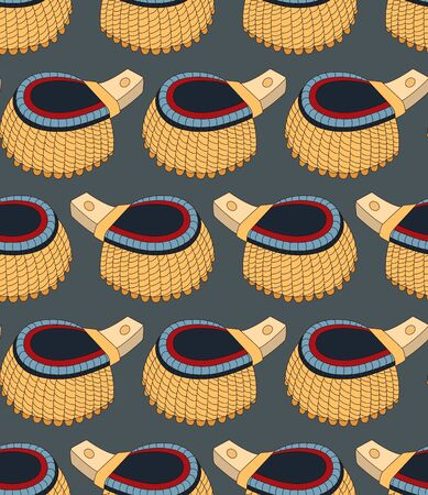 Seamless pattern with epaulettes. Can be used for graphic design, textile design or web design.