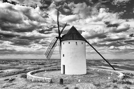 mancha: Windmill in Campo de Criptana. Castilla la Mancha. Spain.