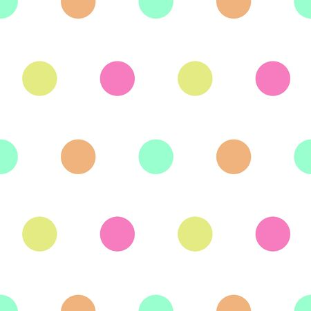Seamless pattern: isolated funny multicolored circles. Fashionable polka dot. illustration. vector. Banque d'images - 131183961
