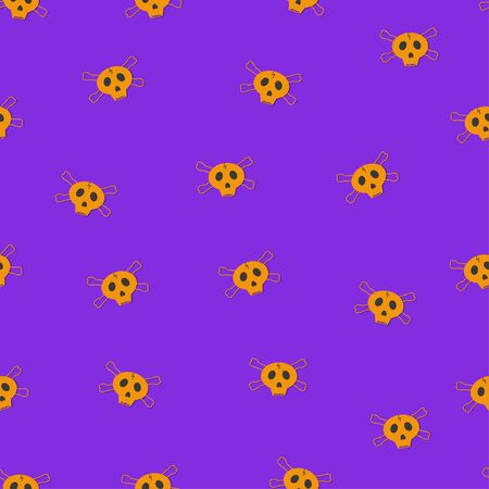 seamless pattern: isolated yellow shards on a purple background. vector. illustration Banque d'images - 131917195