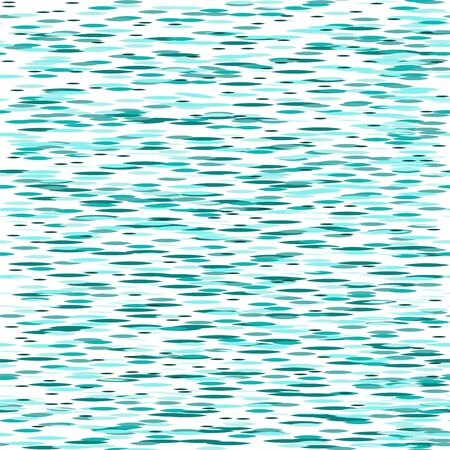Seamless pattern: blue background. turquoise lines on a white background. Vector. illustration