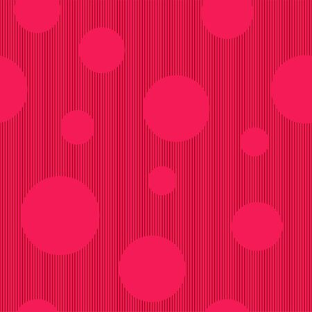 Seamless pattern: pink abstract background and circles. Vector. illustration Banque d'images - 131917210