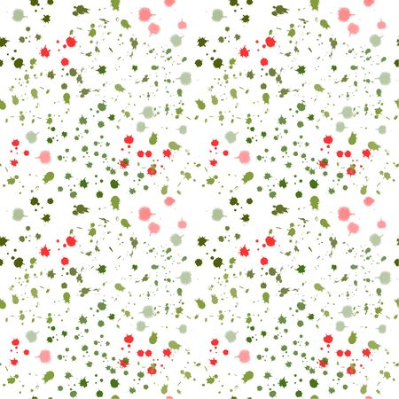 Seamless pattern: isolated multicolored watercolor blots and stains on a white background. vector. illustration Banque d'images - 133104509