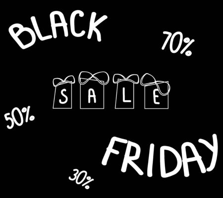 Black friday sale lettering. Calligraphy grunge texture and light background for logo, banners, labels, badges, prints, posters, web. vector. illustration Banque d'images - 133662096