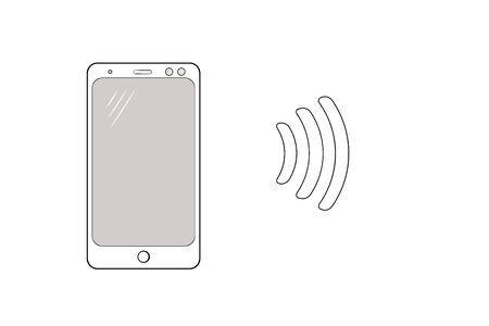 Smartphone icon. Mock up white isolated phone on a white background. Modern technologies. vector. illustration Banque d'images - 133662103