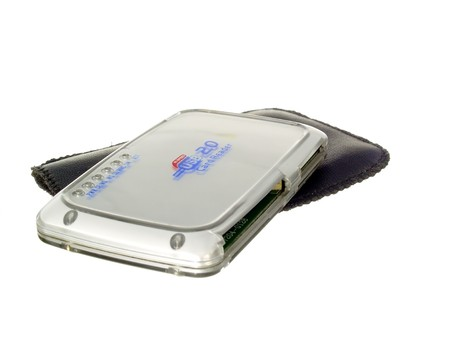 Isolated card reader. The most popular peripheral devices for a computer.  photo