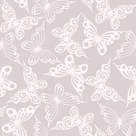 repeated: Seamless pattern  with butterflies(can be repeated and scaled in any size) Illustration
