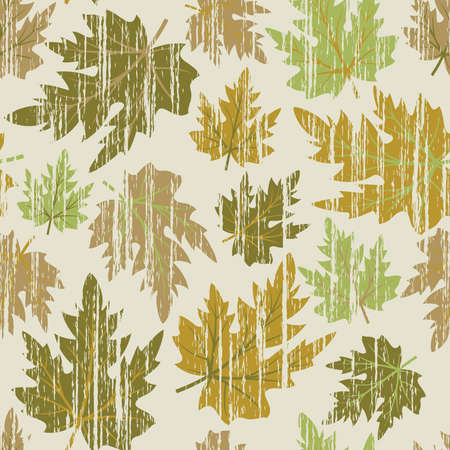 scaled: Grunge seamless pattern from  autumn maple  leaves(can be repeated and scaled in any size)