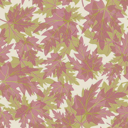 Seamless pattern from  autumn maple  leaves(can be repeated and scaled in any size) Vector