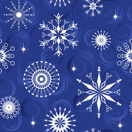 Seamless pattern from  snowflakes(can be repeated and scaled in any size) Vector