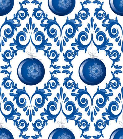 Seamless pattern from  spheres  and  frosty patterns(can be repeated and scaled in any size) Vector