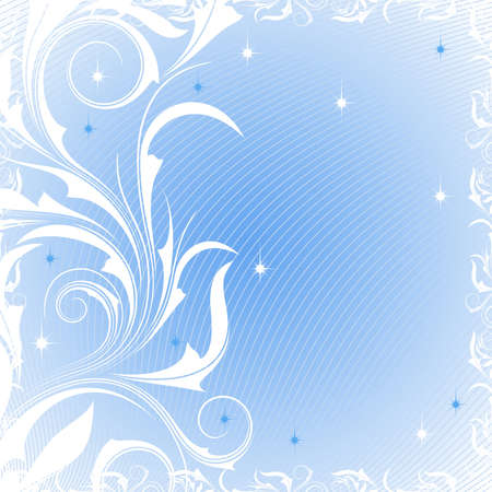 Blue background with  and frosty patterns