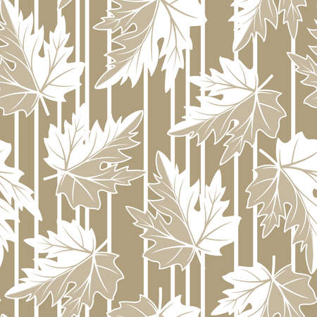effortless: Seamless pattern from  autumn leaves(can be repeated and scaled in any size) Illustration