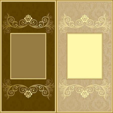 biege: Brown and biege design background Illustration