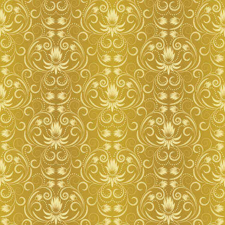 scaled: Seamless pattern from; beige flowers and leaves(can be repeated and scaled in any size)