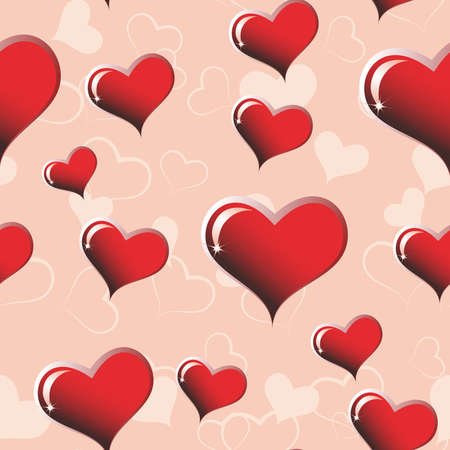 Seamless from hearts(can be repeated and scaled in any size) Vector