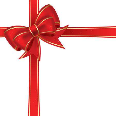 Red christmas arc sur un fond blanc