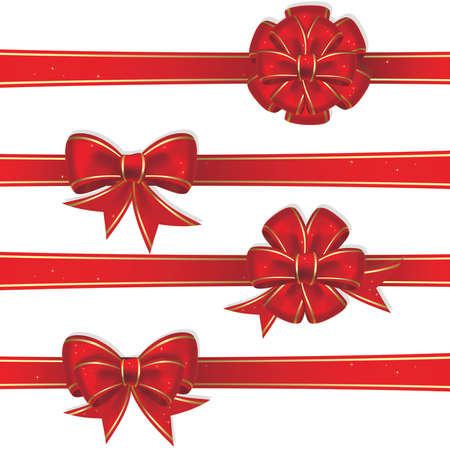 Set de Noël en rouge s'incline