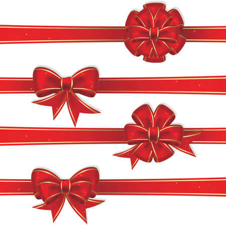 Set from red christmas bows Stock Vector - 3981485