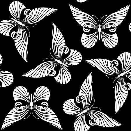Seamless from butterflies(can be repeated and scaled in any size) Vector