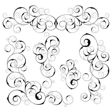 Set from  black design elements on a white background Stock Vector - 4453969