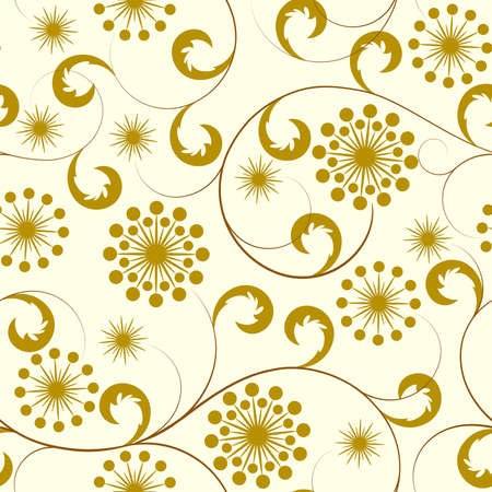 Beige seamless from brown flower(can be repeated and scaled in any size) Vector
