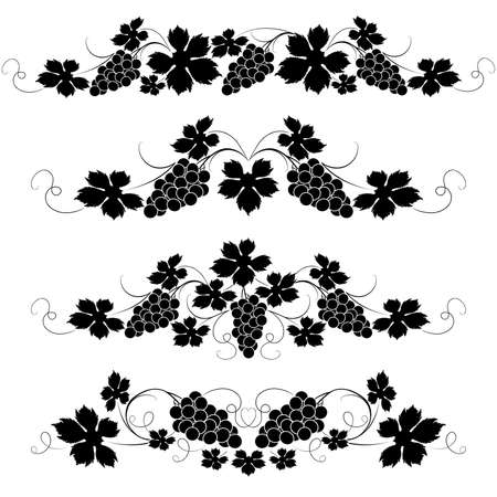 Decorative elements from the vine on a white background Stock Vector - 4680438