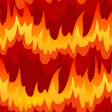 Seamless with fire (can be repeated and scaled in any size) Vector