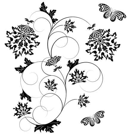 Black design element on a white background Vector