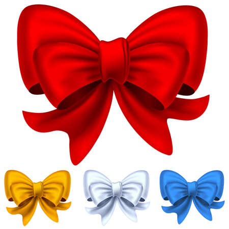 Set from christmas bows