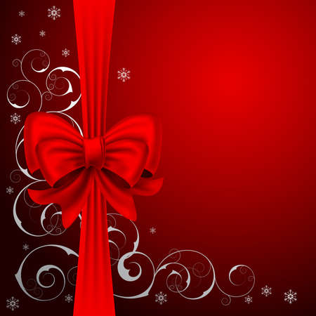 bows and ribbons: Christmas background with  bow