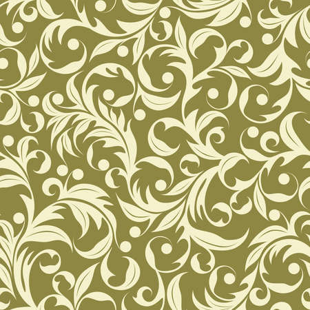 scaled: Seamless pattern from beige plants(can be repeated and scaled in any size)