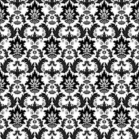 Black and white seamless from  flowers(can be repeated and scaled in any size) Vector