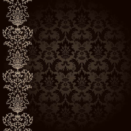 brown backgrounds: Background with brown flowers and leaves