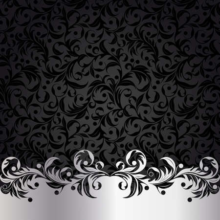 Background with silver plants Vector