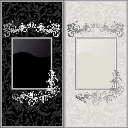 Black and gray design backgrounds Stock Vector - 5737309