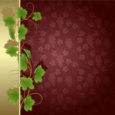 Claret background with vine Vector
