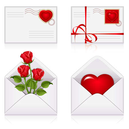 Set from  envelopes to the St.Valentine Stock Vector - 6157103