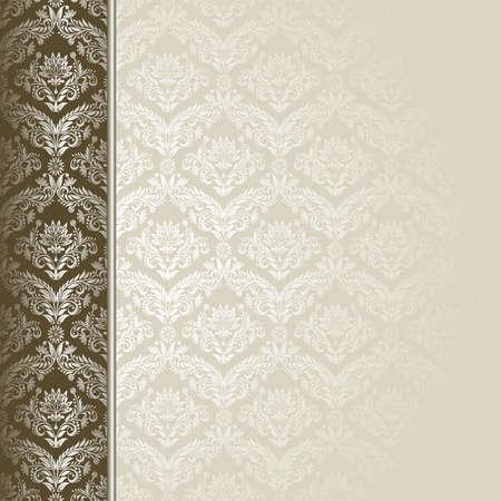 Braun und Beige Hintergrund mit Blumen und Blätter.
