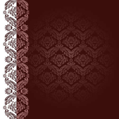 claret: Claret background with flowers and leaves  Illustration
