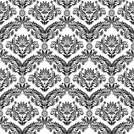 effortless: Transparente de hojas y flores sobre fondo negro (puede ser repetido y escala en cualquier tama�o) Vectores