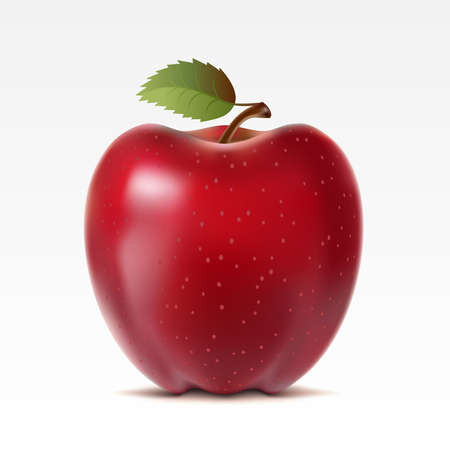 apple red: Red apple on a white background Illustration