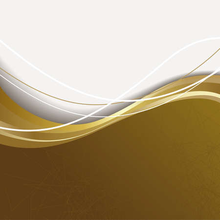 kahverengi: Brown and white background with gold wave. Çizim