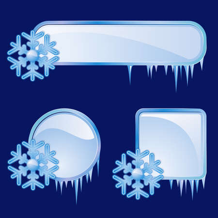 Set from  frames with blue snowflakes  Stock Vector - 7776559