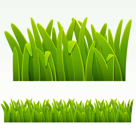 green leaves border: Grass green border.(can be repeated and scaled in any size)