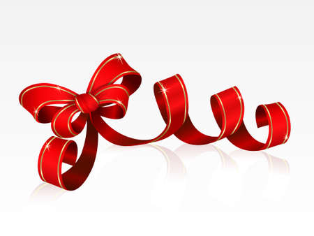 red bow: Red bow isolated on a white background Illustration