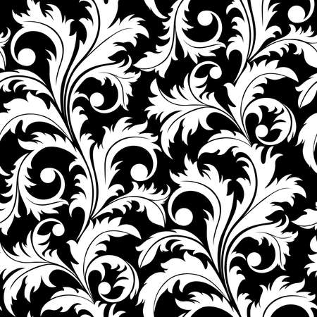 Seamless from abstract black plant(can be repeated and scaled in any size)