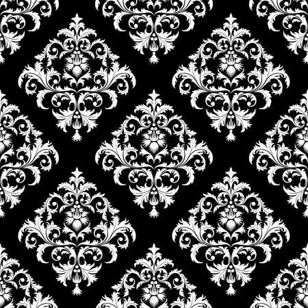 Transparente de hojas y flores sobre fondo negro (puede ser repetido y escala en cualquier tamaño)