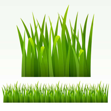 Grass green border  can be repeated and scaled in any size  Stock Vector - 13483701