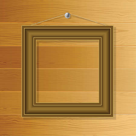 molding: Brown frame on the wall of the boards